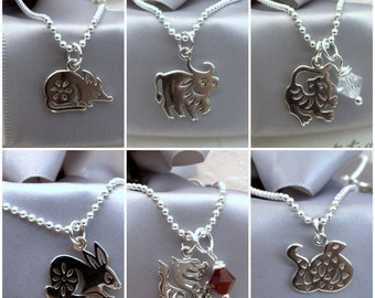 Chinese Zodiac charm necklace with 18in chain