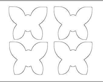 8 inch Printable Butterfly Template-Large Butterfly