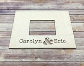 10-100 pc Wedding Guest Book Puzzle – Wood FRAME Style