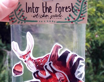 INTO THE FOREST - Sticker Pack (Woodland animals)