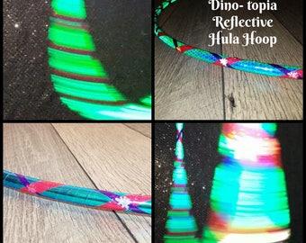 Dino-topia Reflective Hula Hoop - Made to Order (5/8,11/16, 3/4 Poly/HDPE)