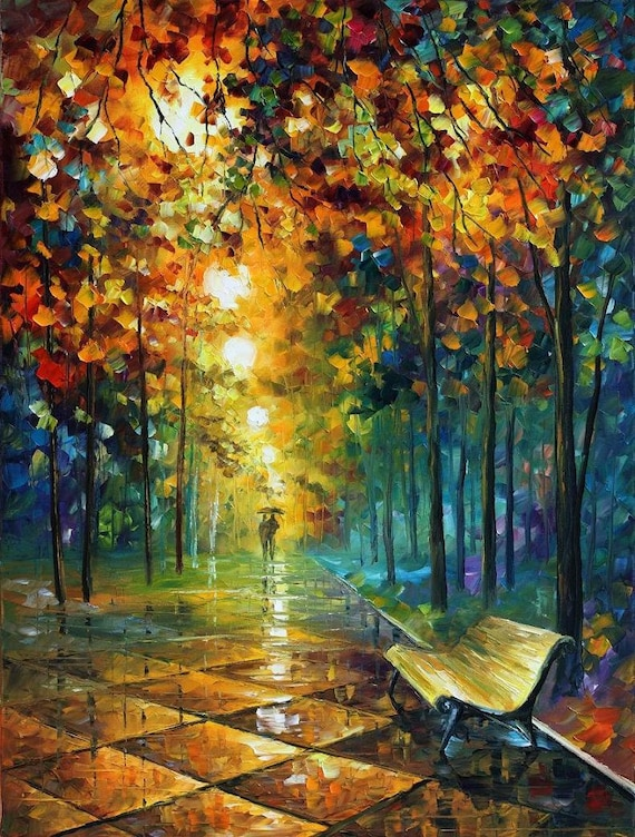 Famous Paintings Abstract Oil Art On Canvas By Leonid Afremov
