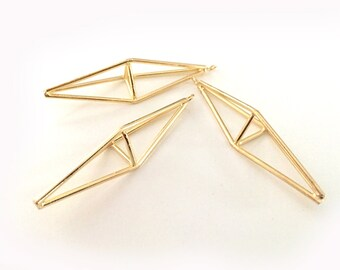 Prism pendant etsy gold metal open prism pendant geometric triangle abstract necklace jewelry supply g51 aloadofball Images