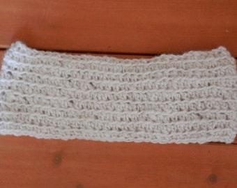 Alpaca Headband/Ear Warmer - Hand Spun Yarn - ADULT Size - Crocheted (#217)