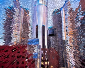 GM Ren Cen Building Detroit  Energy Series Fine Art Photograph on Metallic Paper