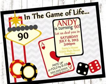 Casino Theme Invitation