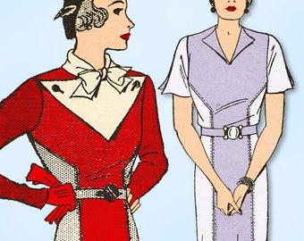 1930s Original Vintage Pictorial Review Pattern 7215 Misses Beginner Dress 34 B