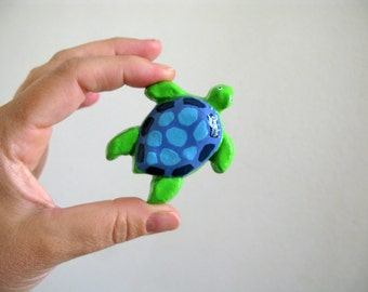Sea Turtle - furniture knob - dresser drawer knob