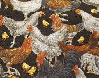 E.E. Schneck fabrics   Packed Roosters
