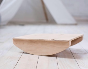 Wooden balance board, rocker board, toy for coordination, gender neutral, wood, non toxic, organic, gift for child