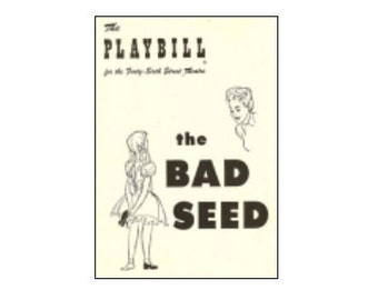 Theater / Show Charm - Playbill Play Bill - THE BAD SEED