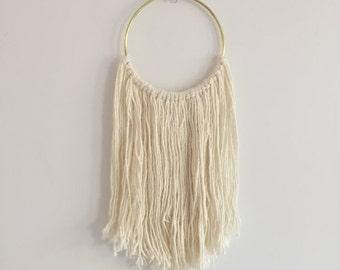 Cream Silk Hoop Dreamcatcher