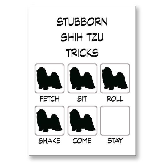Shih Tzu Stubborn Tricks Fridge Magnet