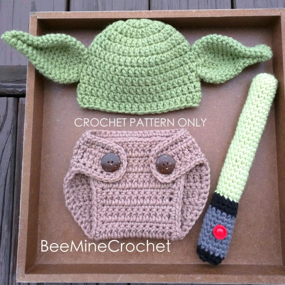 Yoda Inspired Newborn Outfit Crochet Pattern From Beeminecrochet On