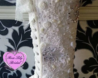 Vintage inspired knee high boots, lace boots, lace flats, alternative boots, wedding shoes, wedding boots