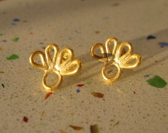 Gold-Plated Droplet Earrings