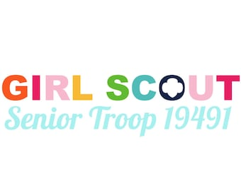 Personalized Girl Scout Seniors Troop Logo
