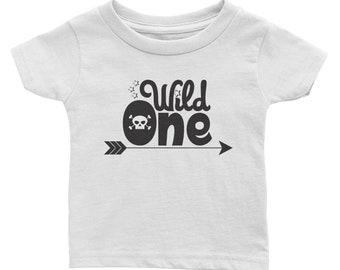 Wild One First Birthday Tee - 1st Birthday Rock and Roll Shirt Tells the World I'm One!