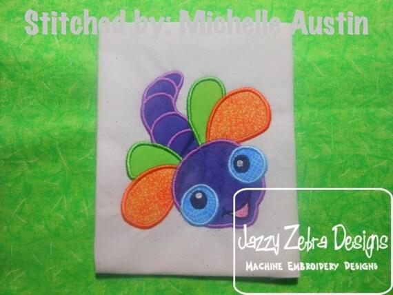 Dragonfly Applique embroidery Design - dragon fly Appliqué Design - bug Applique Design - summer Applique Design