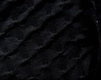 Black Stretch Textured Knit Fabric