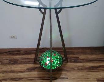 Czechoslovakian inverted chandelier table base