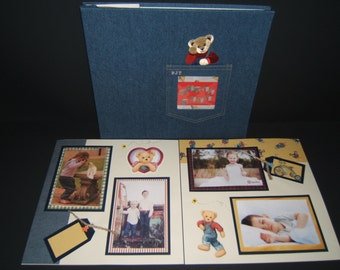 Grandma Scrapbook Album - Teddy Bear Scrapbook Album - Grandkids Scrapbook Album - Grandma Gift from Grandkids - Grandkids Scrapbook Album