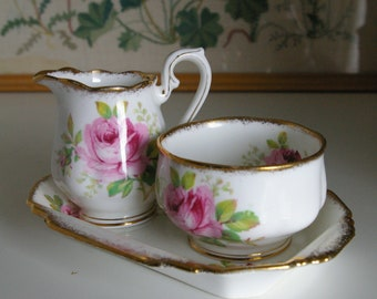 Royal Albert American Beauty Sugar and Creamer Set