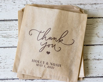 Wedding Favor Bag, Personalized Wedding Treat Bag, Wedding Treat Bag, Personalized Thank You Favor Bag, Wedding Thank You Favor Bag