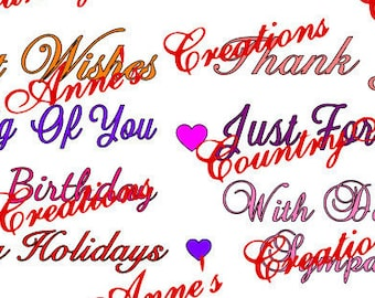 "SVG PNG DXF Eps Ai Wpc Cut file for Silhouette, Cricut, Pazzles - Greetings, Sentiments "" Card Toppers"" cards scrapbooking - svg"