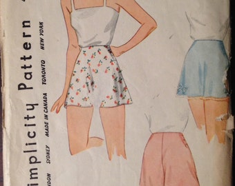 Simplicity 4468 - 1940s Panties and Bloomers - Size Waist 32