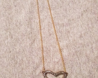 Gold Heart - Cut-out -  Necklace