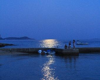 Croatian moonlit landscape