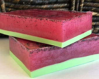 Soap, JUICY WATERMELON, Handcrafted Soap, Artisan Soap, Spa Soap, Soap, Shea Butter, Handmade Soap