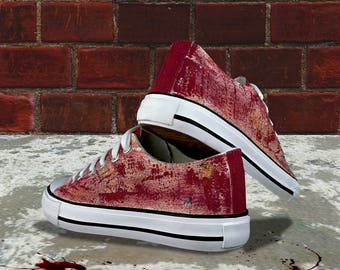 Blood path - Hand painted customise shoe design