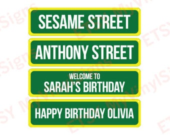 Personalized Sesame Street Sign: Sesame Street Birthday Sign - Sesame Street Party