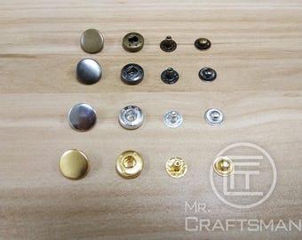 10mm Brass Snap Button x 30Set (655)