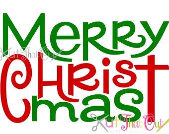 EXCLUSIVE Merry Christ Mas  Christmas Design SVG & DXF Cut File