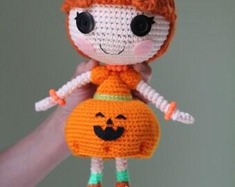 PATTERN: Pumpkin Crochet Amigurumi Doll