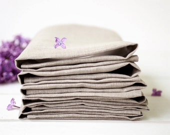 Linen napkins set of 12, Easter napkins, Wedding napkin cloths, Gray napkins, Organic cloth napkins, Dinner napkins, Spring table decor