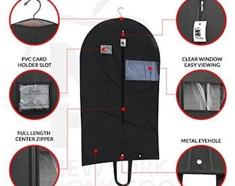 Breathable black Garment bag, Groomsmen Garment bag, Men's Garment bag, - Dance Garment Bag, Great for Travel, Storage