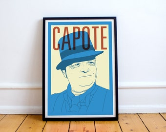 Capote Print! Truman Capote Poster,Breakfast at Tiffany's, in cold blood, harper lee, books