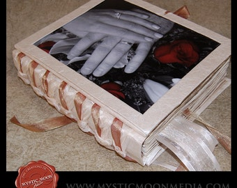 Wedding Guest Book...XL Handmade Wedding Photo Guest Book... CHOOSE your own colors... Guest Book