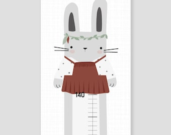 Bar for nursery - boho rabbit girl