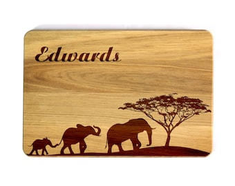 Personalized Cutting board Family tree Wedding elephants Gift for family Mother gift anniversary gift Housewarming gift Wooden Cutting Board
