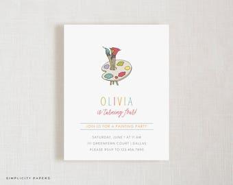 Paint Party Invitations // Birthday // Bridal Shower