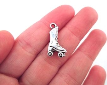 Roller Skate Charms, silver plated, pick your amount, G25