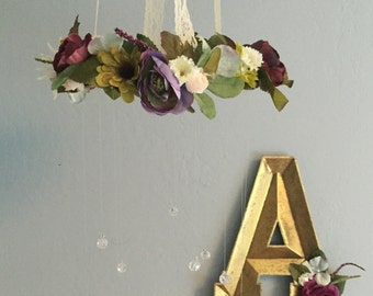 Flower Mobile, Crystal Mobile, Woodland Mobile, Nursery Mobile, Fanciful Mobile, Wreath Mobile