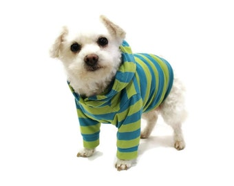 Striped Dog Hoodie-Dog Hoodies-Dog Clothes-Dog Sweater-Dog Clothing-Dog Shirt-Striped Dog Shirts-Shirts for Dogs-Dog Apparel