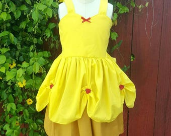 BELLE dress, summer princess dress, Belle costume, Princess dress, comfortable princess dress, vacation princess dress