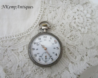 Antique pocket watch real silver 1900 restoartion project